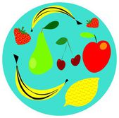 Fruit — Vector de stock