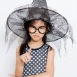 Angry little witch — Stock Photo