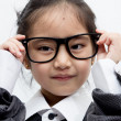 Asian business child with glasses — Stock Photo