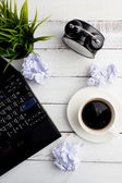 Coffee on office table — Stock Photo