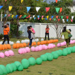Nakhon nayok ,thailand sport day kids school ,Feb 2012 — Foto Stock