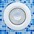 Water proof Light in swimming pool — Stok fotoğraf