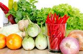 Fresh Mix vegetables on white background . — Stock Photo