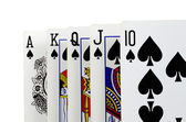 Playing cards - isolated on white background — Stock fotografie