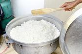 Vit thai ris opolerade i ris gryta förbereda för — Stockfoto