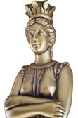 Classic bronze bust of women isolated on white — Stock Photo