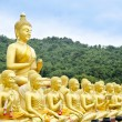 Buddha status at temple, Nakhon Nayok, Thailand — Stock Photo