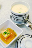 Chawanmushi- Japanese steamed egg custard — Stock Photo