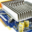 Stock Photo: Video card with iron heatsink