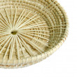 Brown wicker  basket on white background — Stock Photo