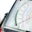 Stock Photo: Multimeter display closeup
