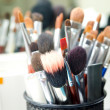 Stock Photo: Makeup brushes