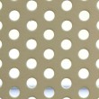 White seamless circle perforated metal grill pattern. — Stock Photo