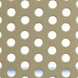 White seamless circle perforated metal grill pattern. — Stock Photo #31744689