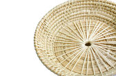 Brown wicker basket on white background . — Foto de Stock