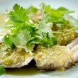 Fresh Crab spicy with garlic and parsley — Foto Stock
