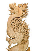 Wood Dragon carve — Stock Photo