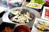 Fresh seafood Grill Koren style — Stock Photo