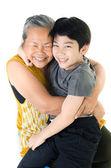 Mormor med hennes barnbarn — Stockfoto