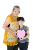 Asian Grandmother and child — Stock Photo