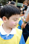 Asian cute boy playing in the park — Стоковое фото
