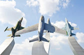 Warplane monument — Foto Stock