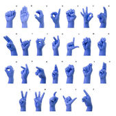 Little Finger Spelling the Alphabet in American Sign Language (A — Стоковое фото