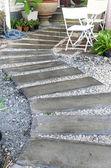 Concrete walkway in garden — Stock Photo