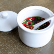 Fish Sauce Thailand in a white cup . — Foto de Stock