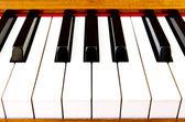 Close-up of piano keys — Stock Photo