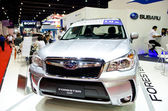 BANGKOK - MARCH 29 : SUBARU FORESTER 2.2 XT  on display at Bangk — Stock Photo