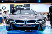 BANGKOK - MARCH 29 : BMW i8 Serie car on display at Bangkok Inte — Stockfoto