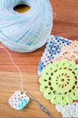 Crochet, the making of a crocheted  — Fotografia Stock