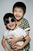 Portrait Of asian cute boys — Stock Photo