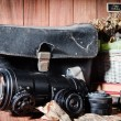 Still life fine art photography on concept  vintage with camera — Stock Photo #46191365