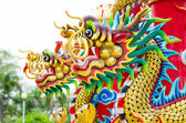 Chinese style dragon statue in temple — Stock Photo