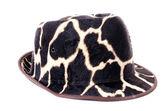 Giraffe pattern men hat  — Stock Photo