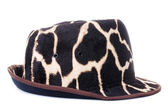 Giraffe pattern men hat — Stock Photo