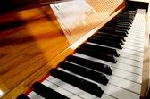 Close-up of piano keys. close frontal view — Stock Photo