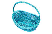 Empty wicker basket isolated — Stock Photo