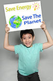 Portrait of Asian child with Eco concept — Stock Photo
