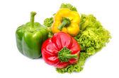 Paprika nebo kapie izolovaných na bílém — Stock fotografie
