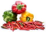 Bell pepper or capsicum isolated on white — Foto de Stock