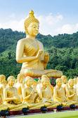 Buddha status at temple, Na KhonNayok, Thailand . — Stock Photo