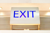 Exit sign inside of  modern hall , security details — Stock Photo