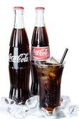 BANGKOK, THAILAND - JULY 14, 2014: Cold Classic Coke Bottle on a — Photo