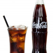 BANGKOK, THAILAND - JULY 14, 2014: Cold Classic Coke Bottle on a — Stock Photo #49643013
