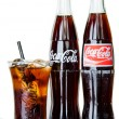 BANGKOK, THAILAND - JULY 14, 2014: Cold Classic Coke Bottle on a — Stock Photo