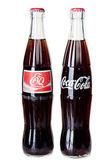 BANGKOK, THAILAND - JULY 14, 2014: Cold Classic Coke Bottle on a — Stock Photo