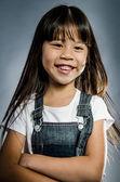 Portrait of little happy asian cute Girl — Stock Photo